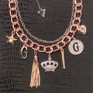 Guess Multi Metal Statement Necklace